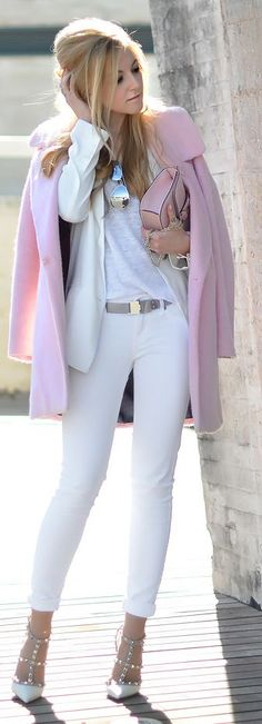 ♔ River Island Pink, Vintage Coat by Oh My Vogue.