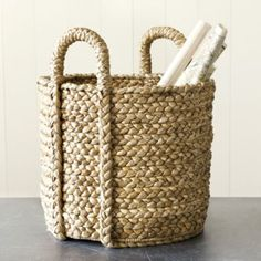 Set of 2 Newport Braided Round Baskets | Ballard Designs #celebrateballard
