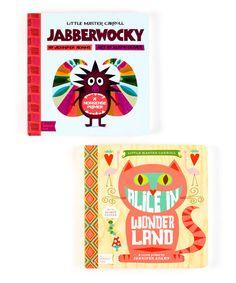 Another great find on #zulily! Alice in Wonderland & Jabberwocky Board Book Set #zulilyfinds