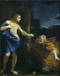NOLI ME TANGERE. oil on canvas. 52,8 × 41,3 cm. State of conservation : good. Provenance : 1958, London, acquired by Sir Denis Mahon from Colnaghi. Exhibited : 1958, London, Colnaghi, n. 10; 1960, London, n. 371; 1990, Bologna, n. 4.