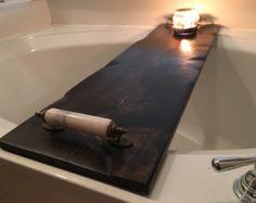 Baño bañera bandeja Caddy Caddy de baño por WorryLessCraftMore