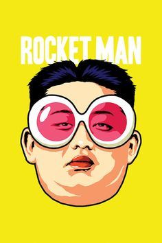 Rocket Man Canvas Art by Butcher Billy Best Movie Posters, Movie Poster Art, Graphic Design Typography, Graphic Art, Bad Candy, Human Icon, Script Typeface, Rapper Art, Political Art