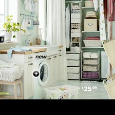 Pretty ikea laundry room ideas