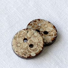 buttons etched antler