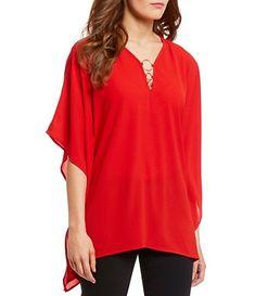 4f3b48175059 MICHAEL Michael Kors Ring Shired Halter Top Women's Clothing Tile ...