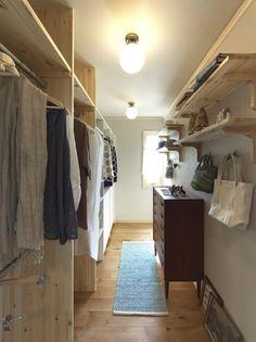 ウォークインクローゼットは部屋に接続しなくても廊下の一部にしても良いかも