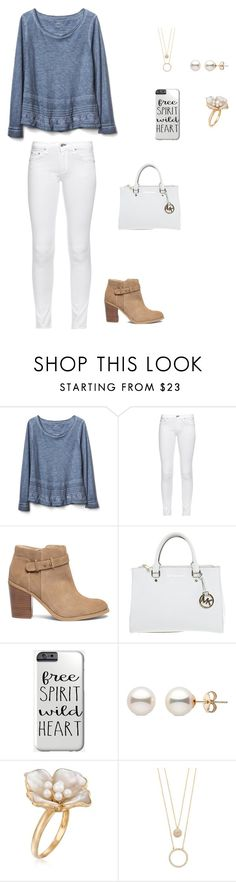 """""""Untitled #321"""" by tangeled10 ❤ liked on Polyvore featuring Gap, rag & bone, Sole Society, Michael Kors, Ross-Simons and Kate Spade"""