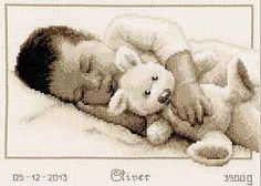 Cuddling Birth Sampler Cross Stitch Kit By Vervaco