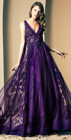 Ziad Nakad Fall/Winter 2014 I wouldn't have any wear to wear this but this dress is beautiful