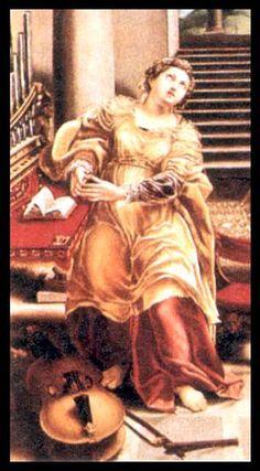 Saint Cecilia painting by Lelio Orsi, 1511-1587, Italian.