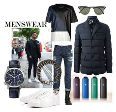 """Menswear"" by skad183 on Polyvore featuring Just Cavalli, Moncler, Les Hommes, Christian Louboutin, Ray-Ban, Ann Demeulemeester, mens, men, men's wear and mens wear"