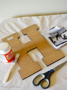 Step by Step: DIY Photo Collage Letters