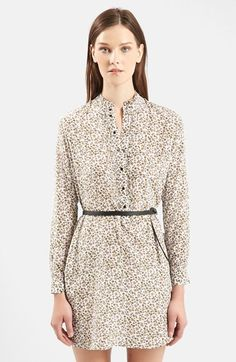 TOPSHOP Unique 'Ottoline' Floral Print Silk Tunic available at #Nordstrom