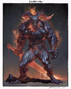 Fantasy Demon, Fantasy Beasts, Demon Art, Fantasy Monster, Monster Concept Art, Monster Art, Creature Concept Art, Creature Design, Mythical Creatures Art