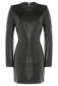 #Balmain #Mini, #Dress aus #drapiertem #Leder #, #Schwarz für #Damen - Eine…