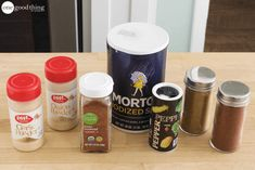 Everything You Need To Make 10 Homemade Spice Mixes In Under An Hour · One Good Thing by Jillee Homemade Spice Blends, Homemade Spices, Spice Mixes, Homemade Things, Soup Mixes, Chili Seasoning, Seasoning Mixes, How To Make Spice, Sloppy Joe Mix