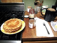 Swedish Waffles Recipe: nonchalant mom: Mor Mor's Sour Cream Waffles