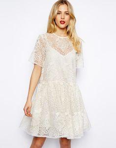 ASOS Premium Lace Smock Dress