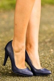 Strutting on 7th Ave. Heels-Navy