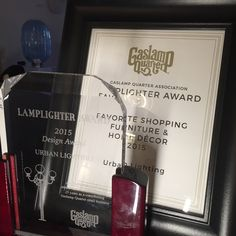 Award for Best shopping Furniture & Decor and the 2015 Lamplighter design Award foin honor of our 25 years in business in the Historic Gaslamp Quarter in San Diego. Design Awards, Innovation Design, Furniture Decor, San Diego, Urban, Business, Shopping, Hay