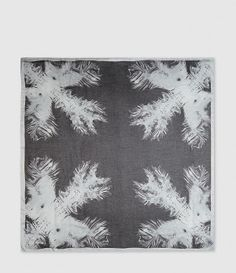 Palms Scarf (Black) | ALLSAINTS.com