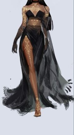 Fashion Design Drawings, Fashion Sketches, Chica Fantasy, Fantasy Gowns, Fashion Art, Fashion Outfits, Drawing Clothes, Fantasy Character Design, Character Outfits