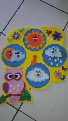 DIY Sensory play game board for baby and toddlers Preschool Classroom, Preschool Crafts, Classroom Decor, Kindergarten, Diy For Kids, Crafts For Kids, Christmas Classroom Door, Weather Crafts, Classroom Calendar