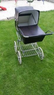 Nostalgie Panorama Kinderwagen Vintage Pram, Baby Prams, Baby Strollers, Abs, Petra, Dolls, Comforters, Baby Crib, Cars