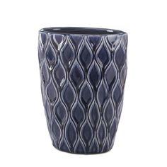 Deep Blue Wide Lip Vase