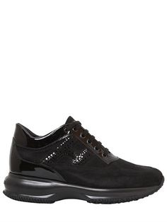 new product abcfd 5cbad HOGAN 60Mm Interactive Suede Sneakers, Black. hogan shoes sneakers