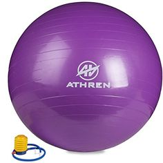 Exercise Ball with Foot Pump GYM QUALITY FITNESS BALL  2000lbs Antiburst  Also Known as Fitness Ball  Yoga Ball  Swiss Ball  Multiple Colors and Sizes  Purple 85cm ** Continue to the product at the image link.