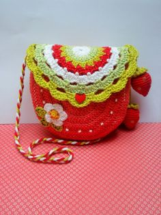 CROCHET PATTERN  Strawberry time  crochet purse pattern