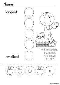Freebie! Farm themed math activity. Kiddos cut and paste