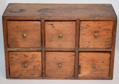 Early Shaker Apothecary Chest, Aafa ***no Reserve