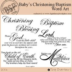 Baptism Scrapbook Pages | http://store.digitalscrapbookplace.c...oducts_id=2117