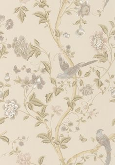 Summer Palace Taupe/ Ivory wallpaper by Laura Ashley