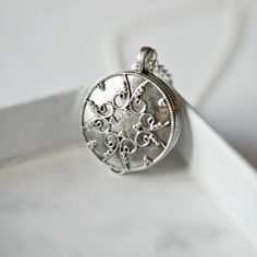 sterling silver locket #locket #necklace #jewelry #keepsake #littleglamour Keep Jewelry, Jewelry Shop, Jewelry Cleaning Solution, Cleaning Silver Jewelry, Silver Lockets, Silver Rounds, Locket Necklace, Sterling Silver Chains, Pendant