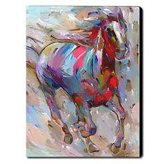 Hand geschilderd olieverfschilderij Animal Paard 1211-AN0032 - EUR € 47.97