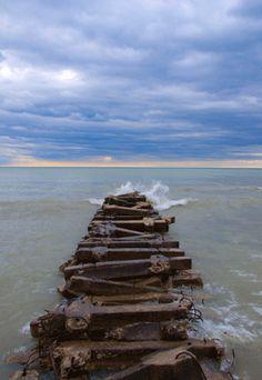 Breaks in Time. Atwater Beach, Shorewood, WI. Taken by CaptureMKE