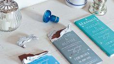 Faire-part DIY style tablette de chocolat