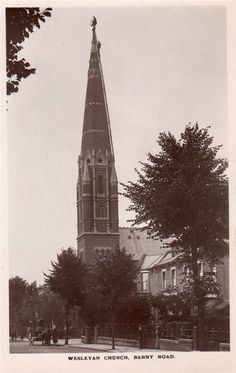 Wesleyan Church Barry Road East Dulwich RP old pc used 1914 F A Finch Peckham Ry | eBay