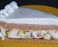 """Torta """"uno...dos...tres"""" - Umutiti vrhnje za šlag, pa dodati čokoladu u prahu. Izmiksati, pa dodati mljevene orahe i mljevenu plazmu. Sve dobro sjediniti. Prebaciti u kalup i poravnati. Premazati sa 2-3 kašike Nutelle."""