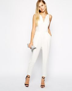 Whistles Abigail Crepe Jumpsuit All White Outfit 75527d699