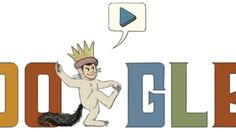 For anyone who hasn't noticed -you're going to want to check out Google Doodles tribute to what would have been Maurice Sendak's 85th birthday today -it's just precious!!!