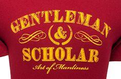 Gentleman & Scholar T-Shirt - from the Art of Manliness