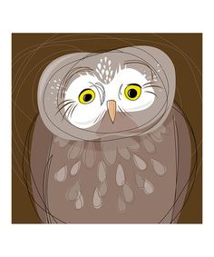 Take a look at this Tengmalm Owl Gallery-Wrapped Canvas by Heather B. Warriner on #zulily today!