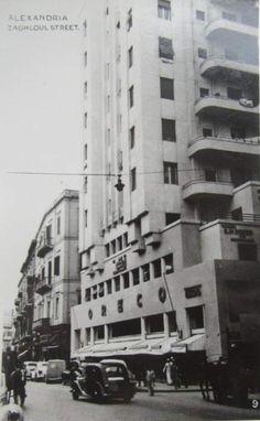 Oreco Building (Cicurel ) Boulevard Saad Zaghloul Architect: Guido Carmona Year of construction 1945 Alexandria, Multi Story Building, Construction, City, Donkey, Beautiful, Building, Donkeys, Cities