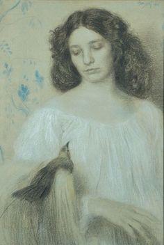 Max Švabinský - Paradisea Apoda (1901) #Czechia #art #painting