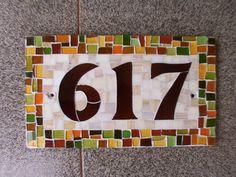 Números de casa em mosaico http://www.castelvitrais.com.br/