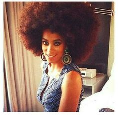 Solange's hair is giving me life...